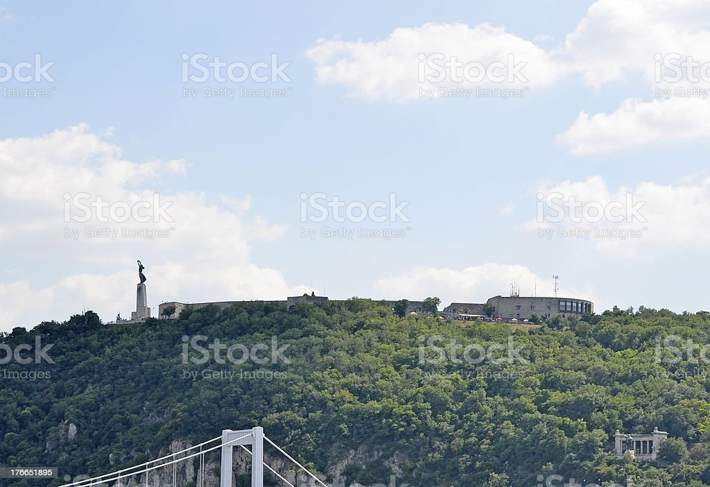 La ciudadela (Citadella), Budapest, Hungría foto de stock libre de derechos
