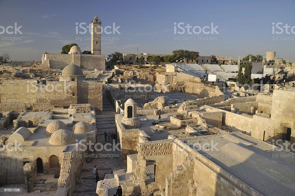The Citadel of Aleppo royalty-free stock photo