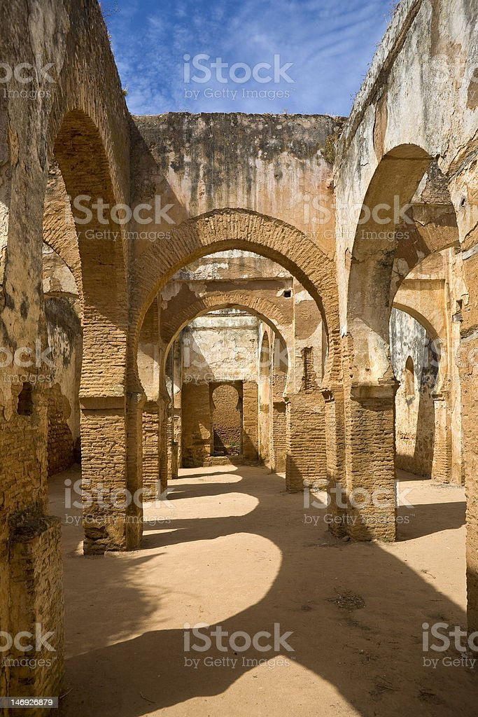 The Citadel of Chellah stock photo