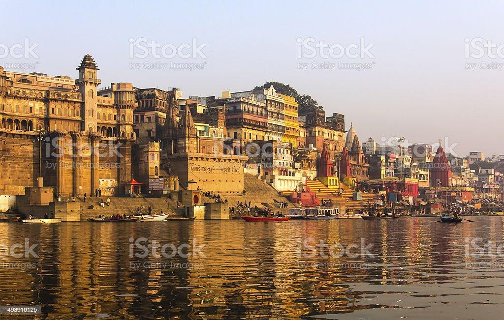 the city and ghats of Varanasi - Royalty-free Asia Stock Photo