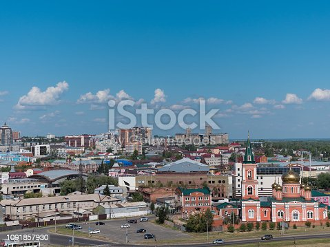 istock The city Barnaul view of the city and church, Altai, Russia 1091857930
