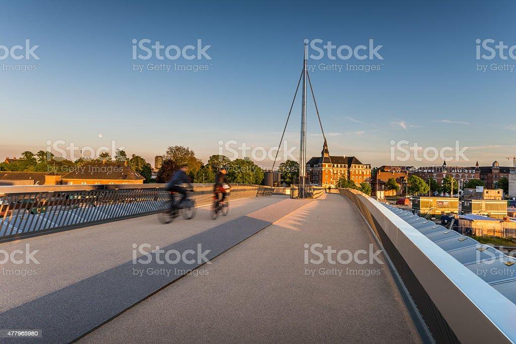 The City bridge in Odense, Denmark stock photo