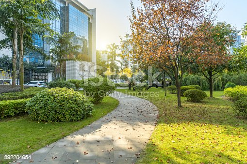 istock The city central park is in chongqing ,china 892204654