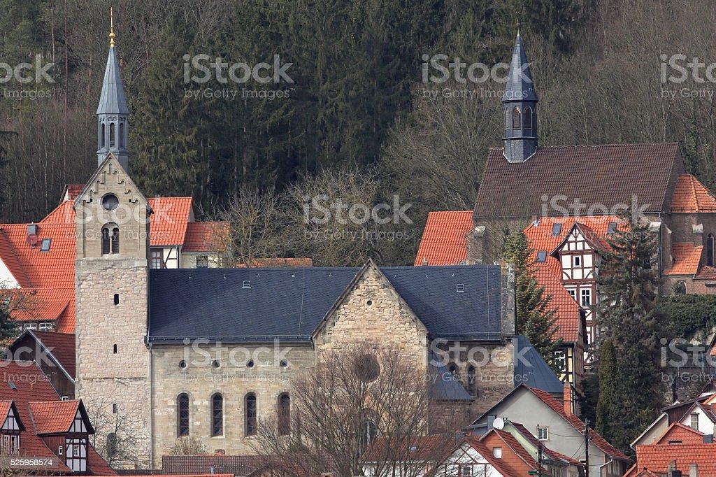 The city church of Treffurt stock photo