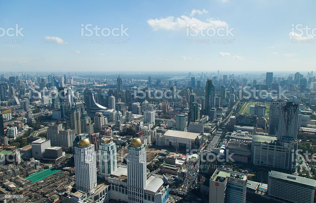 The city from height stock photo