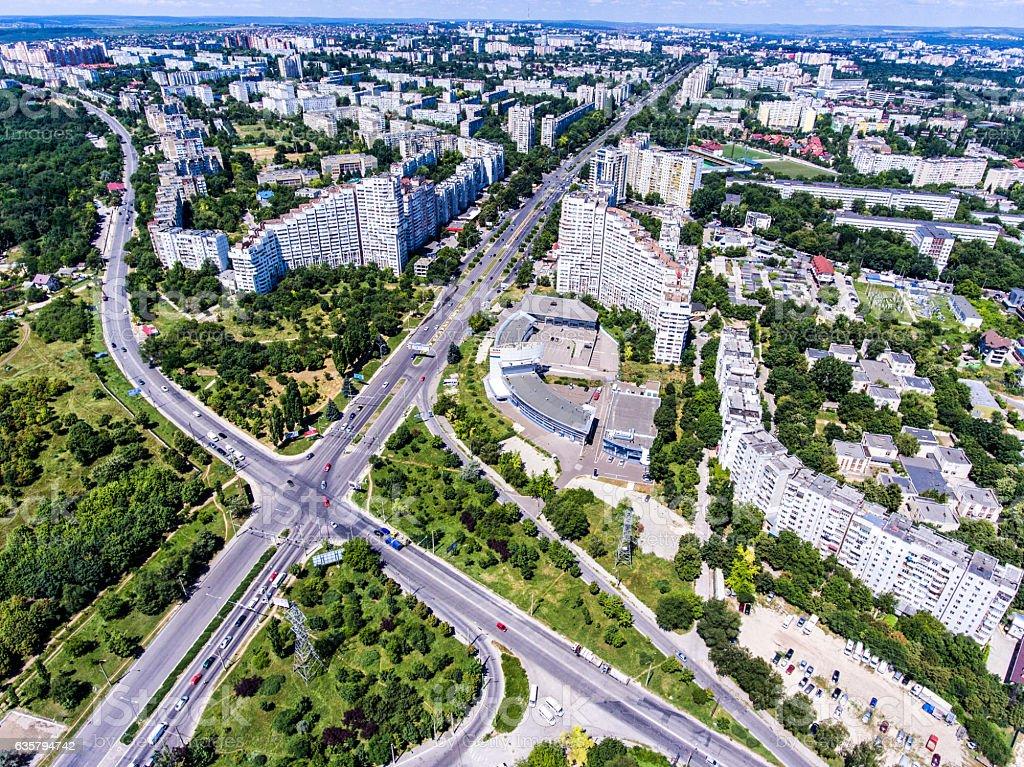 The City Gates of Chisinau, Republic of Moldova, Aerial view stock photo