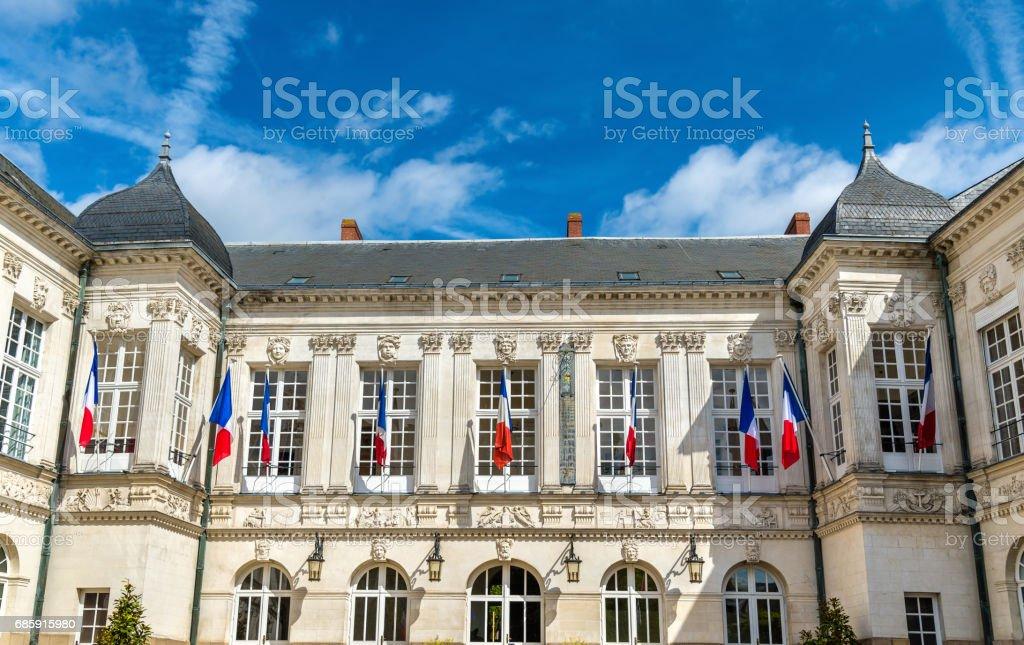 The city hall of Nantes, France stock photo