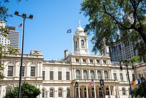 A view of the City Hall of New York