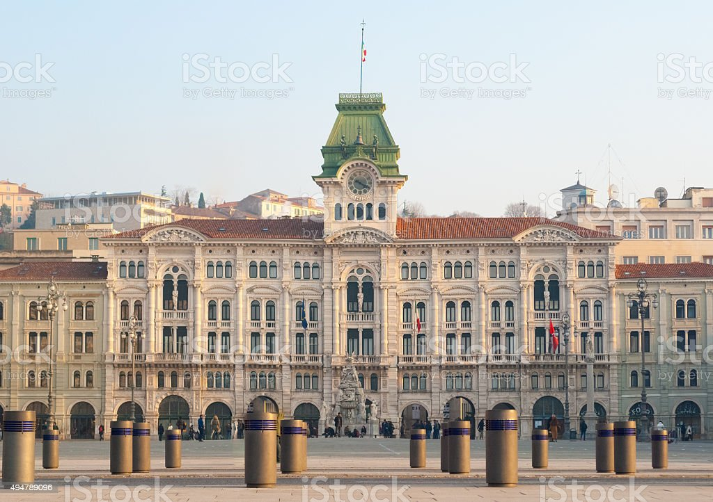 The city hall of Trieste (northern Italy) stock photo