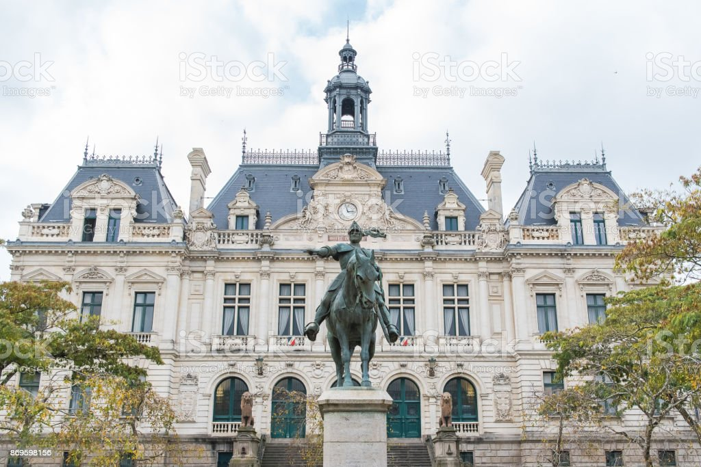 The City Hall of Vannes, in Brittany stock photo