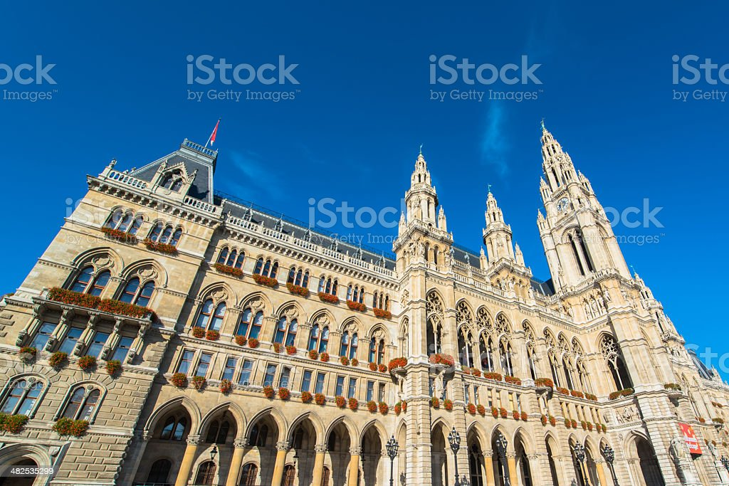The City Hall of Vienna, Austria stock photo