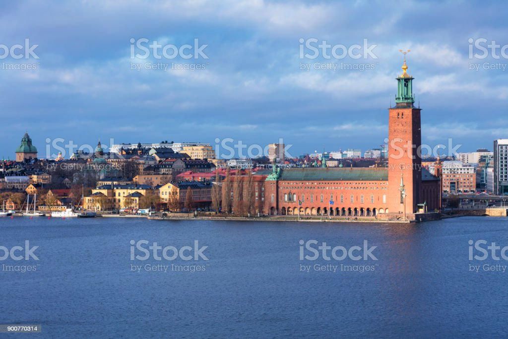 The City Hall, Stockholm stock photo