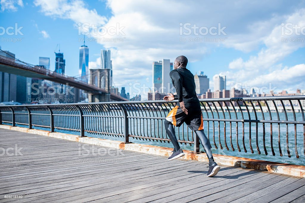 The city is my favourite gym stock photo