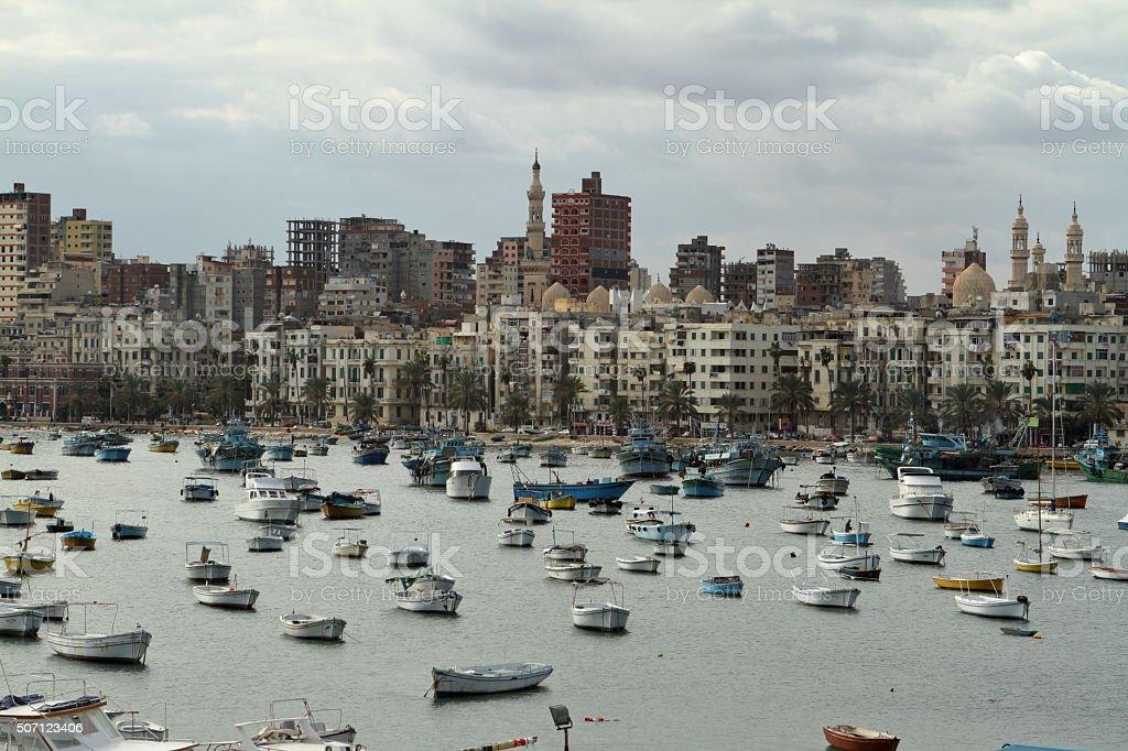 A cidade de Alexandria, Egito - foto de acervo