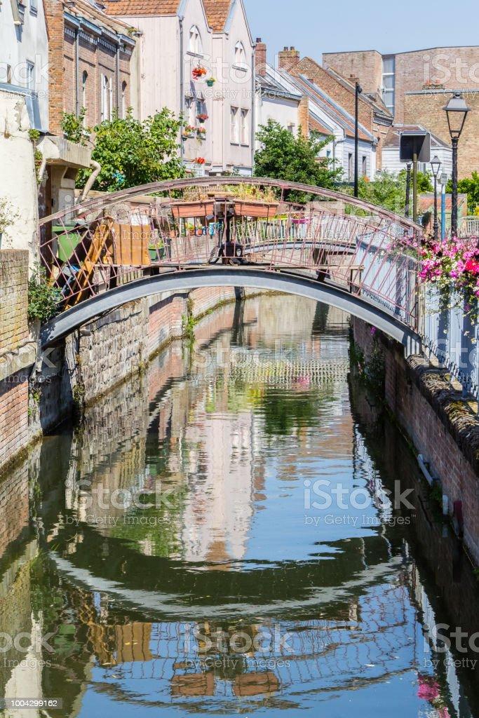 the city of Amiens stock photo