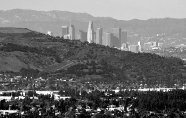 The City of Angels from a Distance stock photo