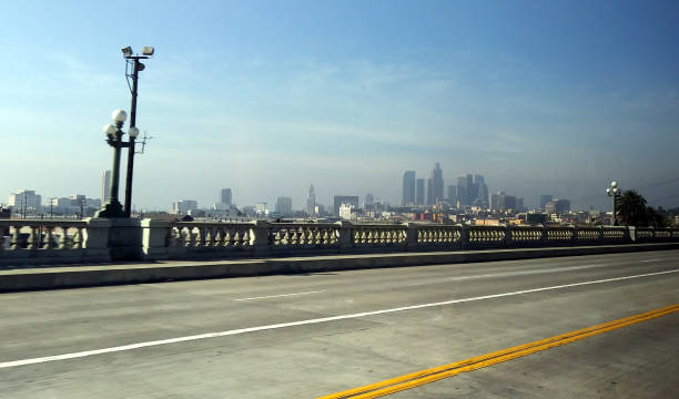 The City of Angels on a Bright Autumn Day stock photo