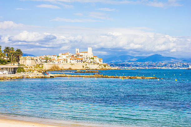 The city of Antibes, south of France stock photo
