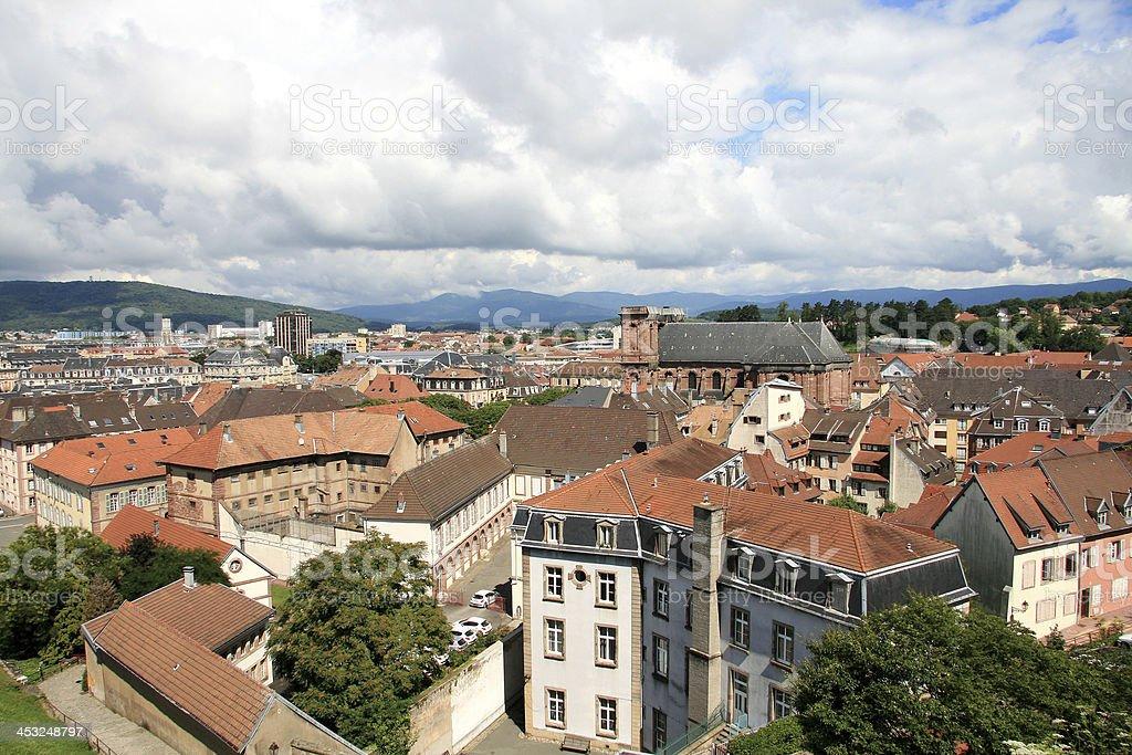 The city of Belfort stock photo