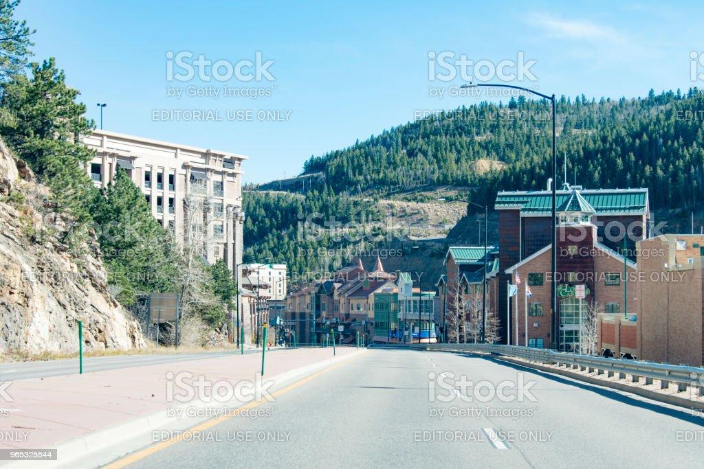 The city of Black Hawk, Colorado royalty-free stock photo