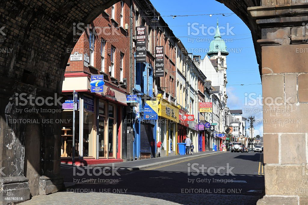 The City of Derry in Northern Ireland stock photo