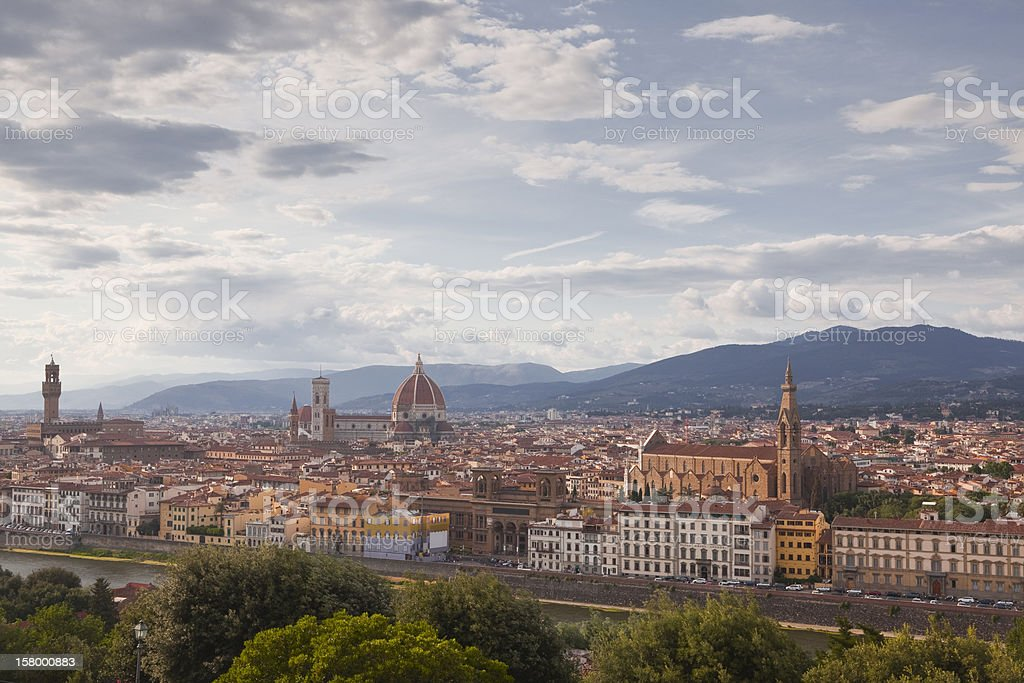 The city of Florence royalty-free stock photo