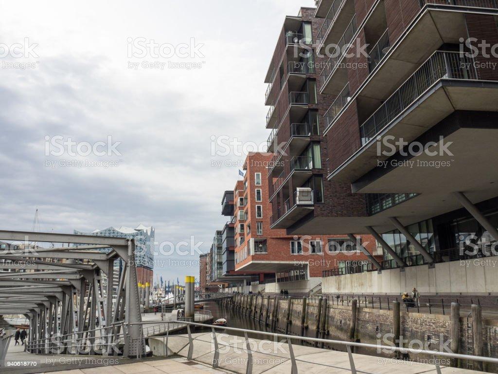 the city of hamburg in germany stock photo