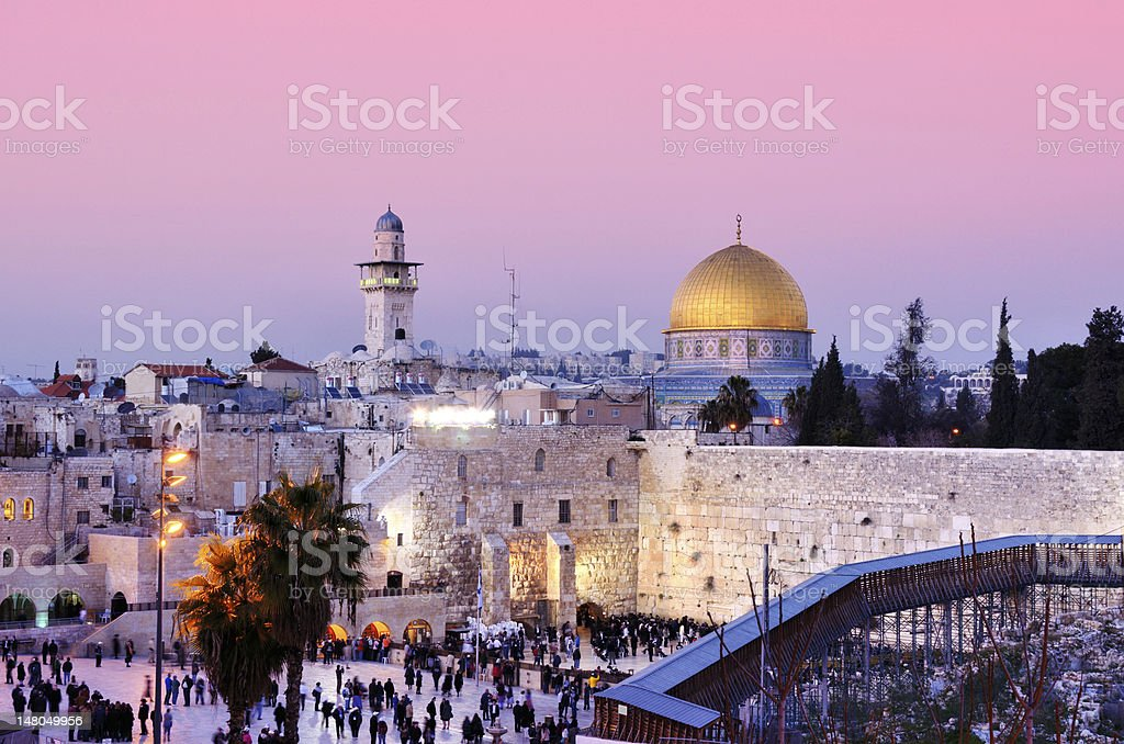 The city of Jerusalem and its people stock photo