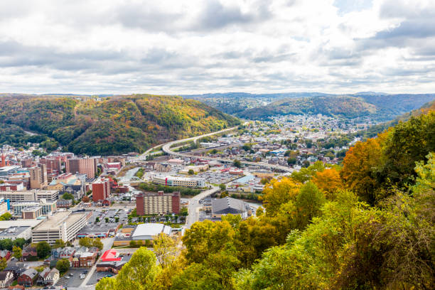 The City Of Johnstown Pennsylvania From The Highest Point stock photo