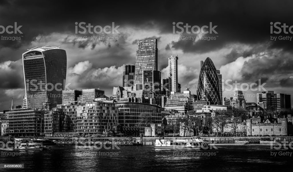 The City Of London and River Thames stock photo