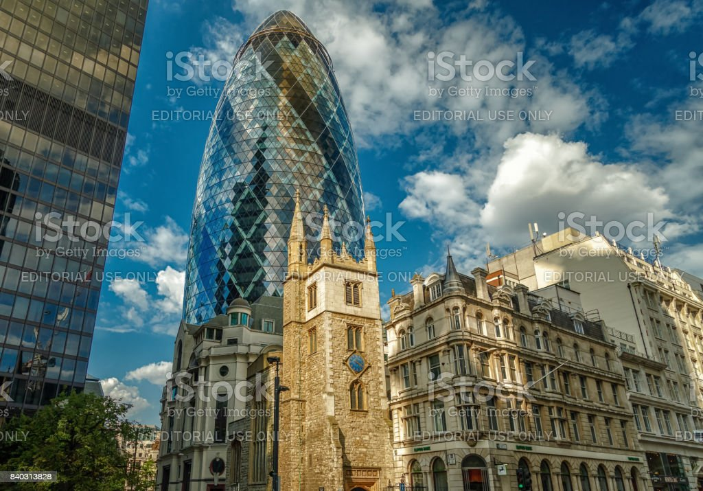 The City of London, England, UK stock photo