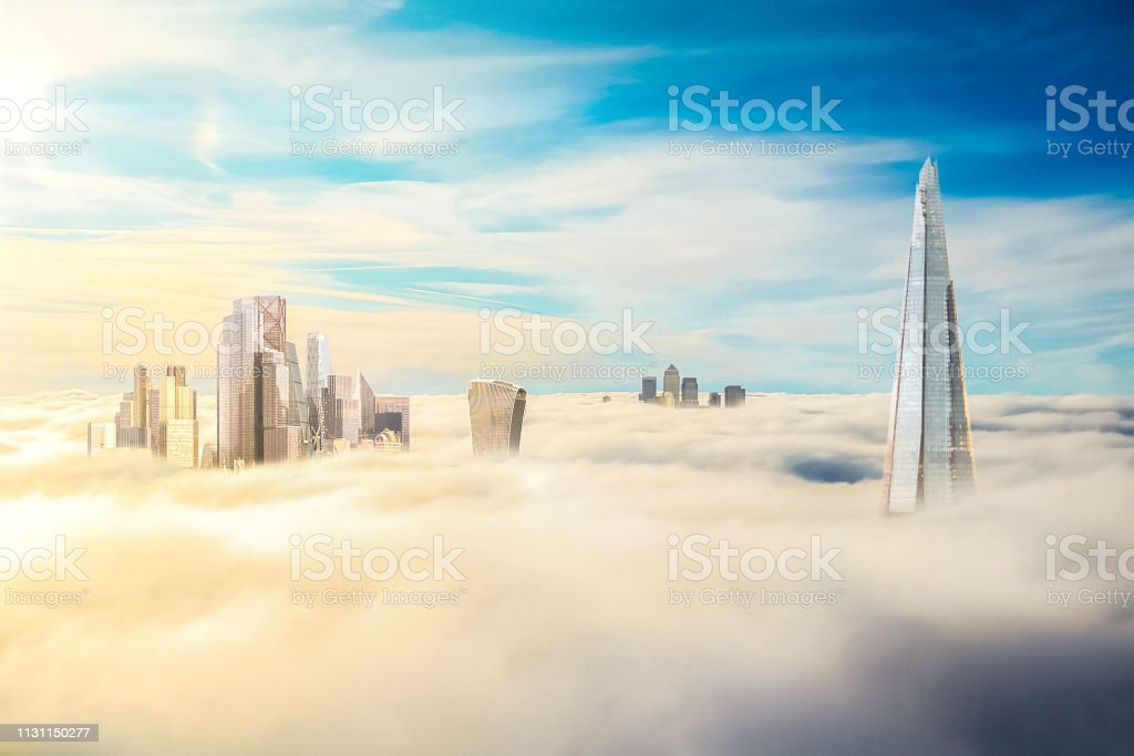 A composite / hypothetical computer photoshop image of the City of...