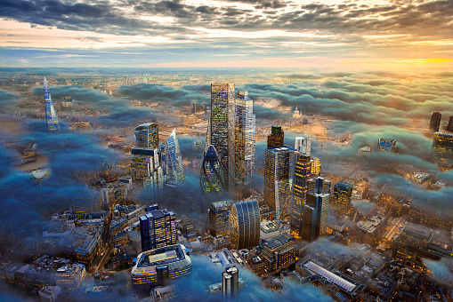 The City of London of the Future Above the Clouds