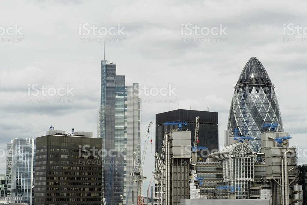 The City of London or financial district, UK stock photo