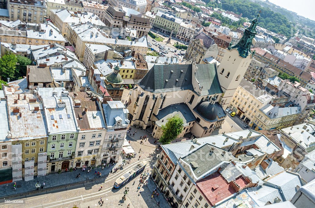 The city of Lviv, Cathedral stock photo