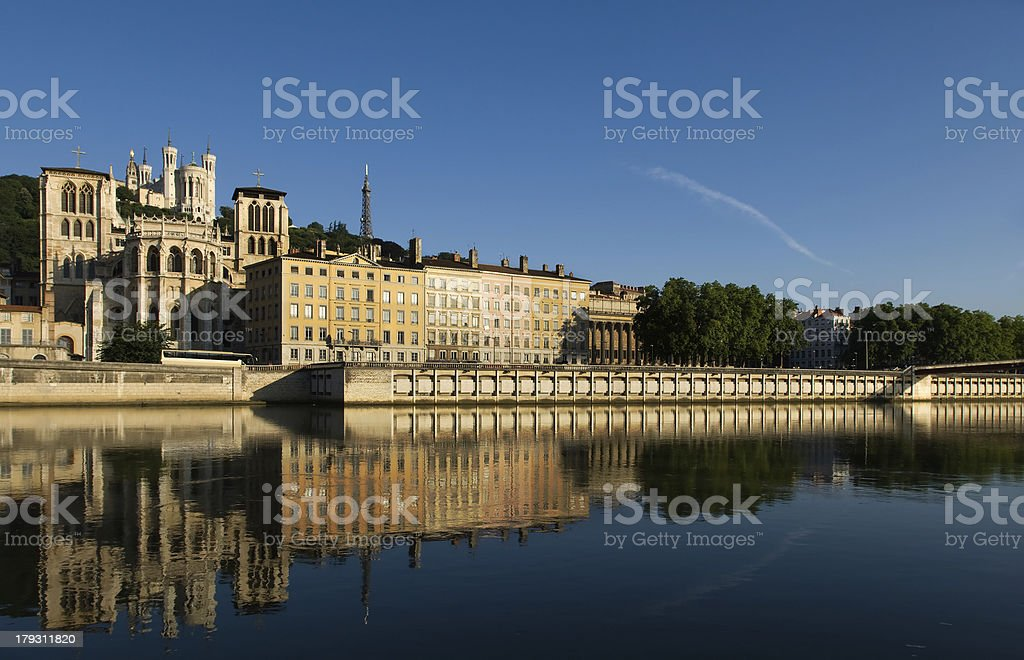 The city of Lyon, France royalty-free stock photo
