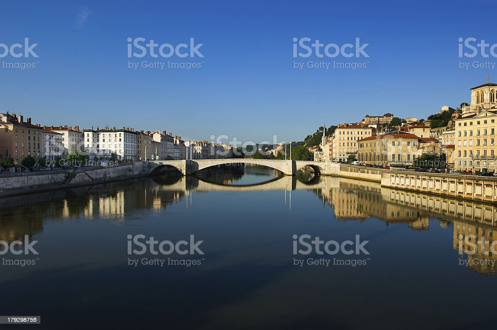 The city of Lyon in France stock photo
