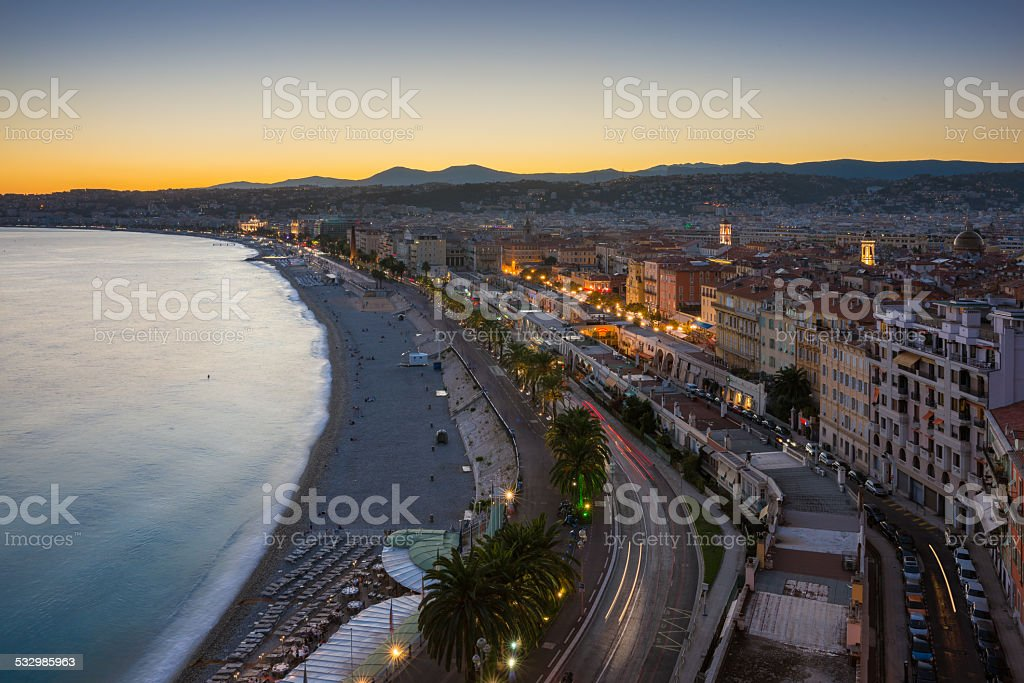 The City of Nice stock photo