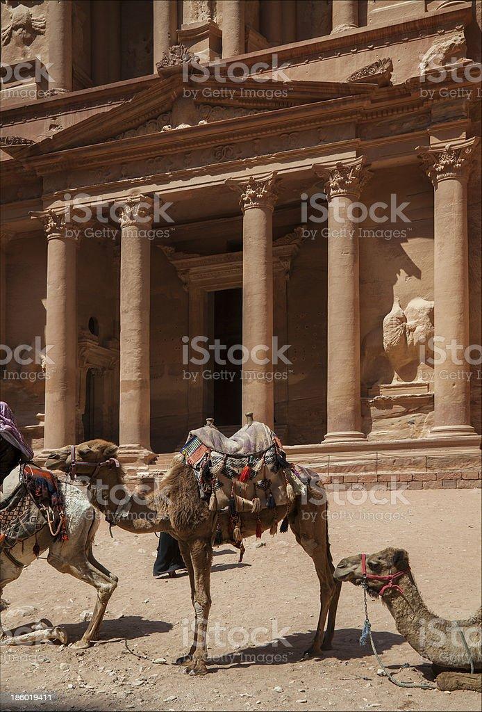 The city of Petra in Jordan royalty-free stock photo