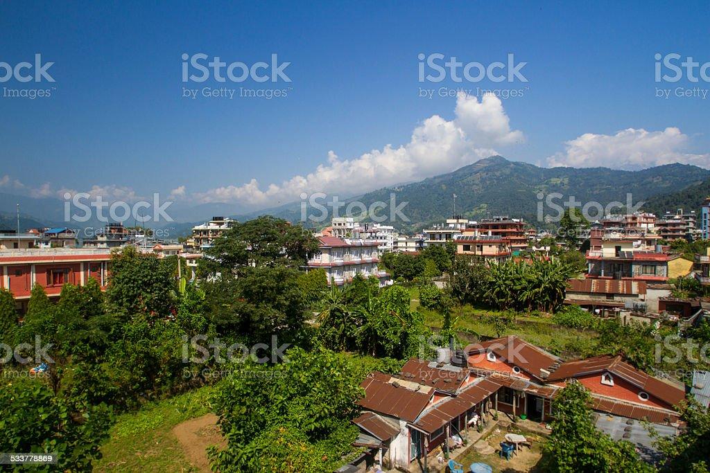 The City of Pokhara, Nepal stock photo