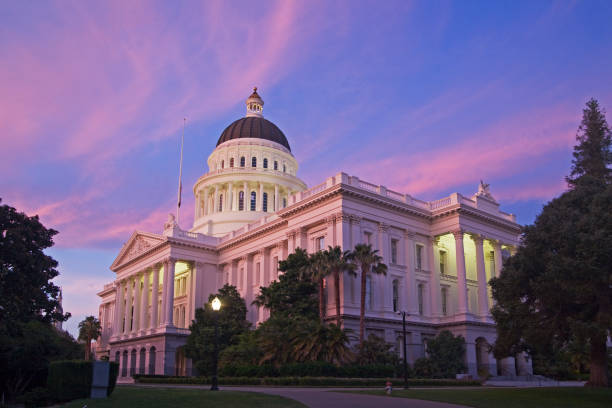 The City of Sacramento California stock photo