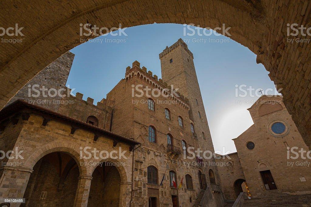 The city of San Gimignano stock photo