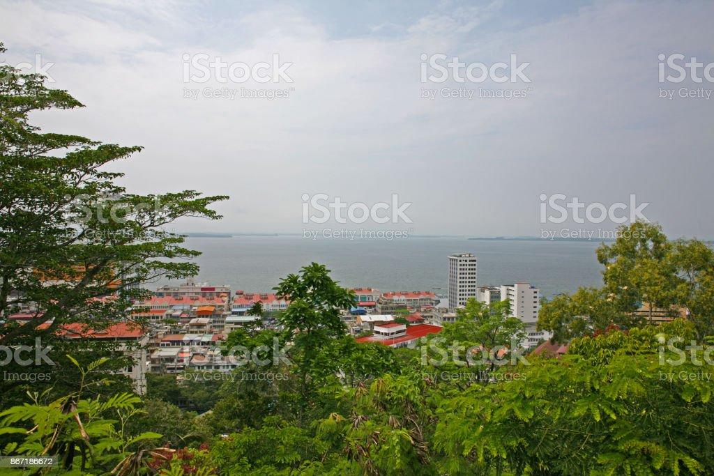 The city of Sandakan stock photo