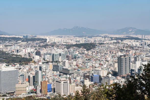 The city of Seoul, South Korea stock photo
