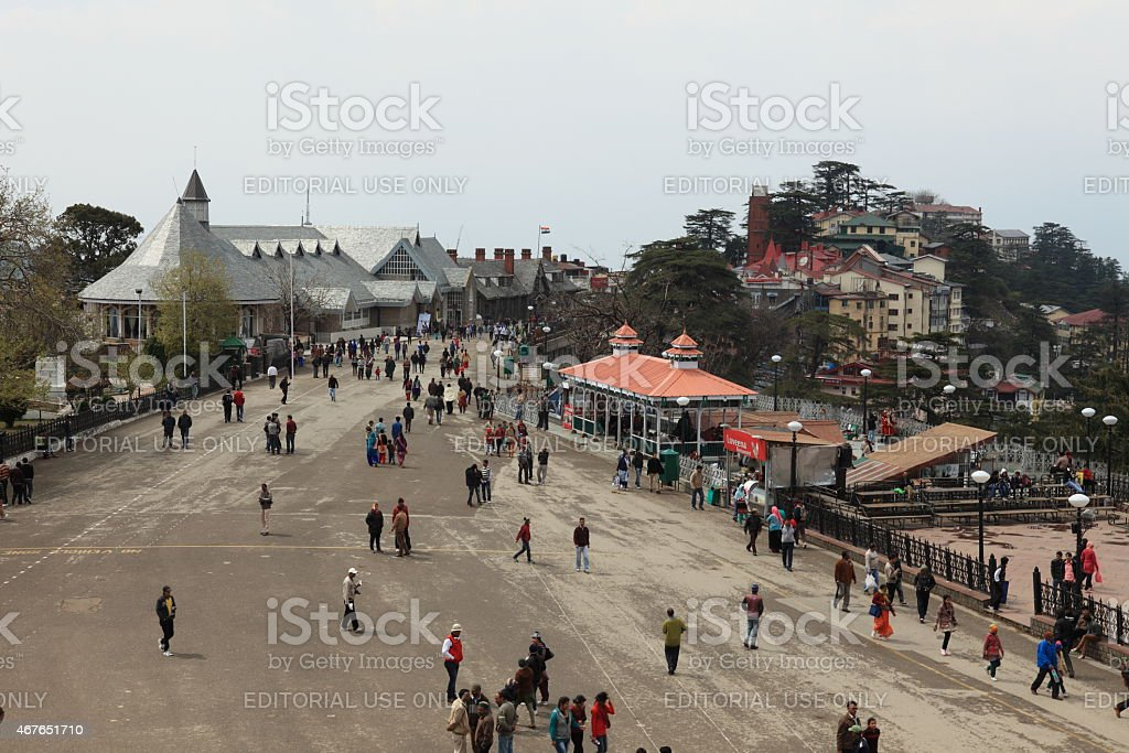 The City of Shimla in India stock photo