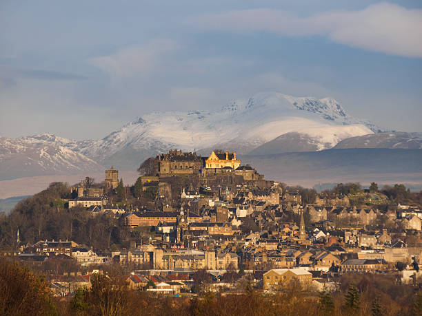 The City of Stirling, Central Scotland on a winters day. stock photo