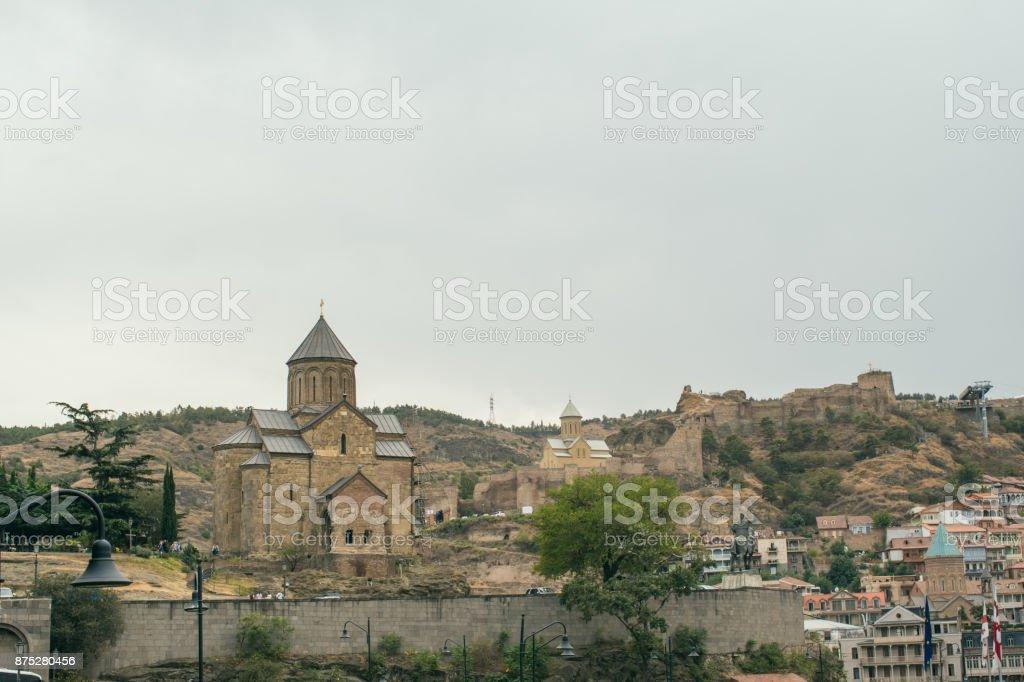 The city of Tbilisi in Georgia stock photo