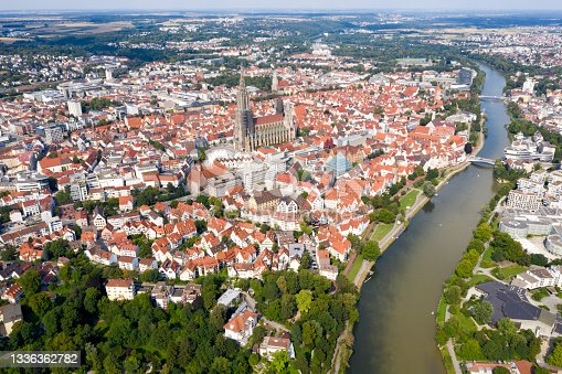istock The City of Ulm, Germany, Aerial View 1336362782