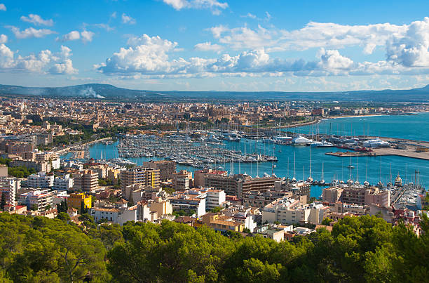 The City Palma de Majorca from a bird's eye view stock photo