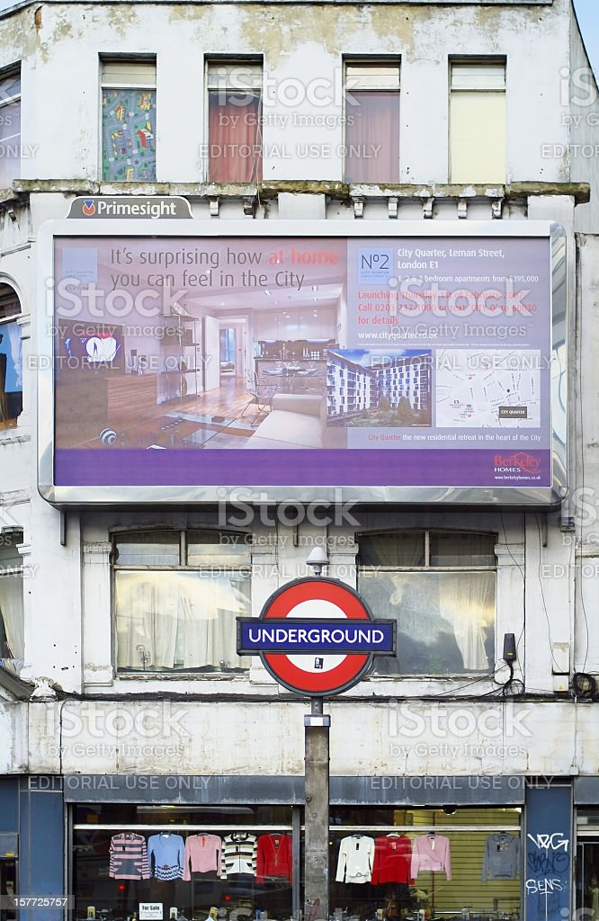 The city - Real estate industry in London stock photo
